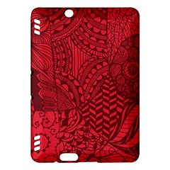 Deep Red Background Abstract Kindle Fire HDX Hardshell Case