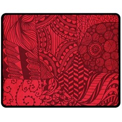Deep Red Background Abstract Double Sided Fleece Blanket (medium)
