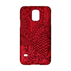 Deep Red Background Abstract Samsung Galaxy S5 Hardshell Case