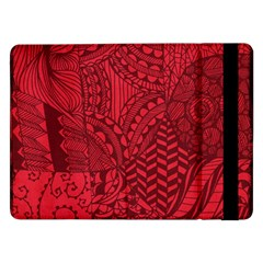 Deep Red Background Abstract Samsung Galaxy Tab Pro 12.2  Flip Case