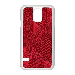 Deep Red Background Abstract Samsung Galaxy S5 Case (white)