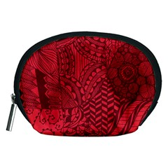 Deep Red Background Abstract Accessory Pouches (medium)