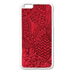 Deep Red Background Abstract Apple iPhone 6 Plus/6S Plus Enamel White Case