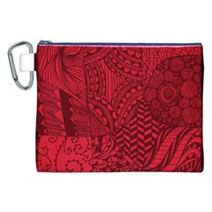 Deep Red Background Abstract Canvas Cosmetic Bag (xxl)