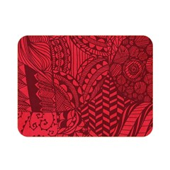 Deep Red Background Abstract Double Sided Flano Blanket (Mini)