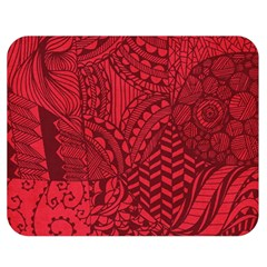Deep Red Background Abstract Double Sided Flano Blanket (Medium)