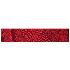 Deep Red Background Abstract Flano Scarf (Small)