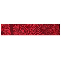 Deep Red Background Abstract Flano Scarf (Large)