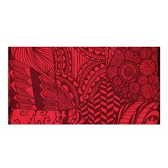 Deep Red Background Abstract Satin Shawl