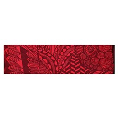 Deep Red Background Abstract Satin Scarf (Oblong)