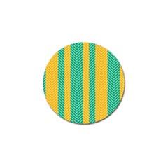 Green And Orange Herringbone Wallpaper Pattern Background Golf Ball Marker (4 Pack)