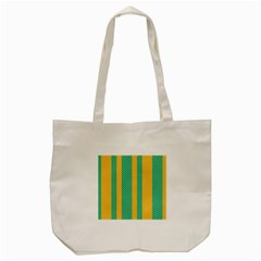 Green And Orange Herringbone Wallpaper Pattern Background Tote Bag (Cream)