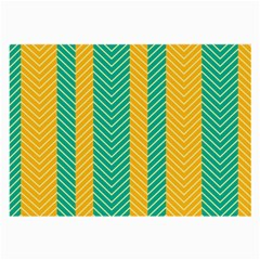 Green And Orange Herringbone Wallpaper Pattern Background Large Glasses Cloth