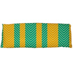 Green And Orange Herringbone Wallpaper Pattern Background Body Pillow Case (Dakimakura)