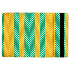 Green And Orange Herringbone Wallpaper Pattern Background Ipad Air 2 Flip