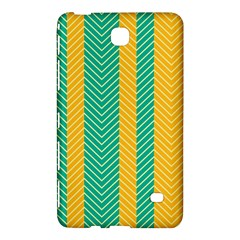 Green And Orange Herringbone Wallpaper Pattern Background Samsung Galaxy Tab 4 (7 ) Hardshell Case