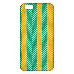 Green And Orange Herringbone Wallpaper Pattern Background Iphone 6 Plus/6s Plus Tpu Case