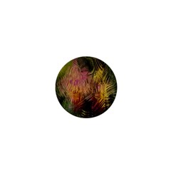 Abstract Brush Strokes In A Floral Pattern  1  Mini Buttons