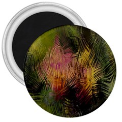 Abstract Brush Strokes In A Floral Pattern  3  Magnets