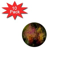 Abstract Brush Strokes In A Floral Pattern  1  Mini Buttons (10 Pack)