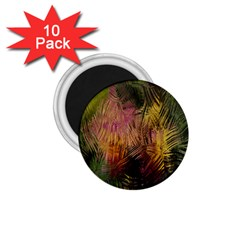 Abstract Brush Strokes In A Floral Pattern  1 75  Magnets (10 Pack)