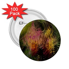 Abstract Brush Strokes In A Floral Pattern  2 25  Buttons (100 Pack)