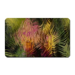 Abstract Brush Strokes In A Floral Pattern  Magnet (rectangular)