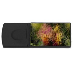 Abstract Brush Strokes In A Floral Pattern  USB Flash Drive Rectangular (1 GB)
