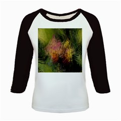 Abstract Brush Strokes In A Floral Pattern  Kids Baseball Jerseys