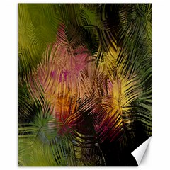Abstract Brush Strokes In A Floral Pattern  Canvas 16  X 20