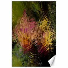 Abstract Brush Strokes In A Floral Pattern  Canvas 24  X 36