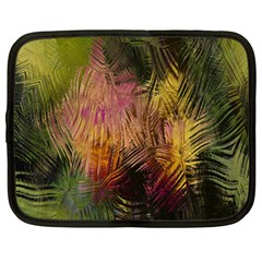 Abstract Brush Strokes In A Floral Pattern  Netbook Case (xl)