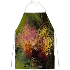 Abstract Brush Strokes In A Floral Pattern  Full Print Aprons