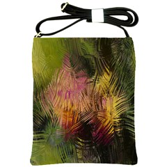 Abstract Brush Strokes In A Floral Pattern  Shoulder Sling Bags