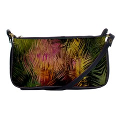 Abstract Brush Strokes In A Floral Pattern  Shoulder Clutch Bags