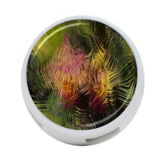 Abstract Brush Strokes In A Floral Pattern  4 Port Usb Hub (two Sides)