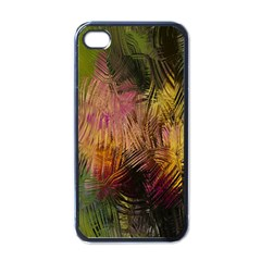 Abstract Brush Strokes In A Floral Pattern  Apple Iphone 4 Case (black)