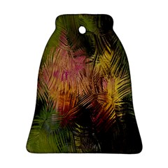 Abstract Brush Strokes In A Floral Pattern  Bell Ornament (two Sides)