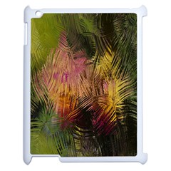 Abstract Brush Strokes In A Floral Pattern  Apple Ipad 2 Case (white)