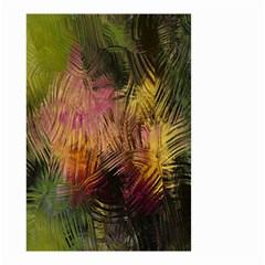 Abstract Brush Strokes In A Floral Pattern  Small Garden Flag (Two Sides)