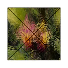 Abstract Brush Strokes In A Floral Pattern  Acrylic Tangram Puzzle (6  x 6 )