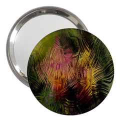 Abstract Brush Strokes In A Floral Pattern  3  Handbag Mirrors