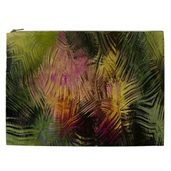 Abstract Brush Strokes In A Floral Pattern  Cosmetic Bag (xxl)