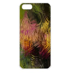 Abstract Brush Strokes In A Floral Pattern  Apple Iphone 5 Seamless Case (white)