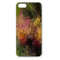 Abstract Brush Strokes In A Floral Pattern  Apple Seamless iPhone 5 Case (Clear)