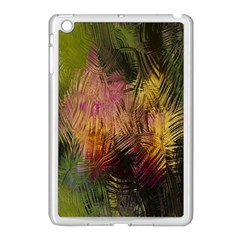 Abstract Brush Strokes In A Floral Pattern  Apple iPad Mini Case (White)