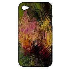 Abstract Brush Strokes In A Floral Pattern  Apple iPhone 4/4S Hardshell Case (PC+Silicone)