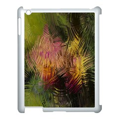 Abstract Brush Strokes In A Floral Pattern  Apple Ipad 3/4 Case (white)
