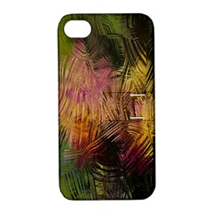 Abstract Brush Strokes In A Floral Pattern  Apple iPhone 4/4S Hardshell Case with Stand