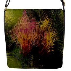 Abstract Brush Strokes In A Floral Pattern  Flap Messenger Bag (S)
